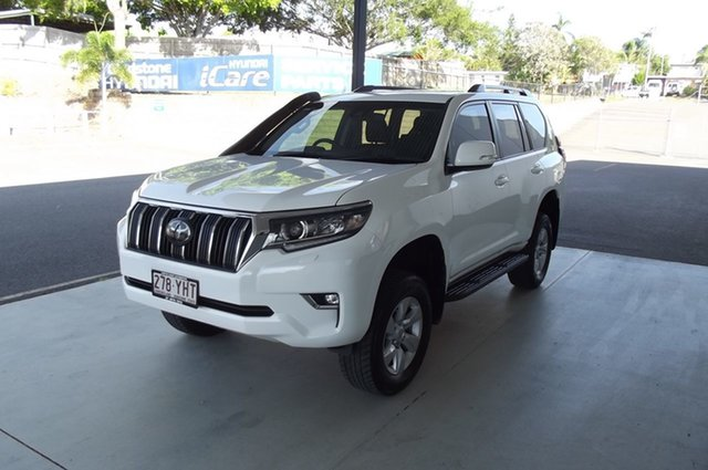 Used Toyota Landcruiser Prado GDJ150R GXL South Gladstone, 2018 Toyota Landcruiser Prado GDJ150R GXL White 6 Speed Sports Automatic Wagon