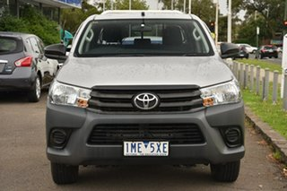 2017 Toyota Hilux TGN121R Workmate Double Cab 4x2 Silver 5 Speed Manual Utility.
