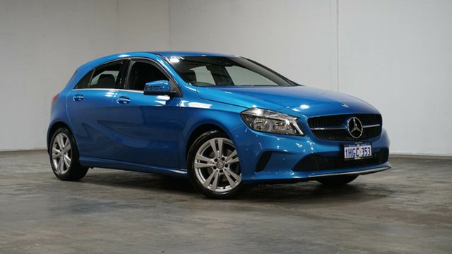 Used Mercedes-Benz A-Class W176 807MY A180 D-CT Welshpool, 2016 Mercedes-Benz A-Class W176 807MY A180 D-CT South Sea Blue 7 Speed Sports Automatic Dual Clutch