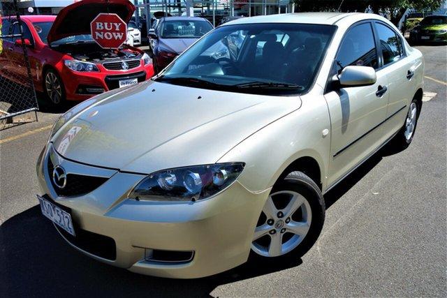 Used Mazda 3 BK10F2 Maxx Seaford, 2008 Mazda 3 BK10F2 Maxx Gold 4 Speed Sports Automatic Sedan