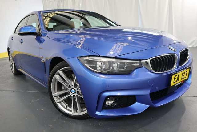 Used BMW 4 Series F32 430i M Sport Castle Hill, 2017 BMW 4 Series F32 430i M Sport Blue 8 Speed Sports Automatic Coupe