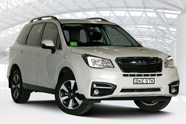 Used Subaru Forester MY15 2.5I-L Moorebank, 2016 Subaru Forester MY15 2.5I-L White Continuous Variable Wagon