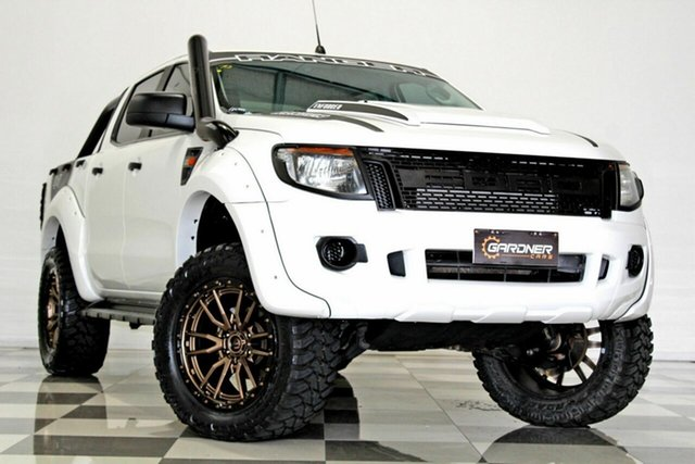 Used Ford Ranger PX XL 3.2 (4x4) Burleigh Heads, 2015 Ford Ranger PX XL 3.2 (4x4) White 6 Speed Manual Double Cab Pick Up