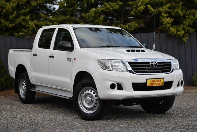 Used Toyota Hilux KUN26R MY14 SR Double Cab Enfield, 2014 Toyota Hilux KUN26R MY14 SR Double Cab White 5 Speed Automatic Utility