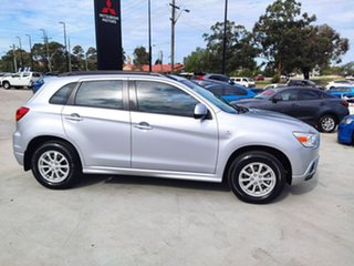2012 Mitsubishi ASX XA MY12 2WD Silver, Chrome 6 Speed Constant Variable Wagon.