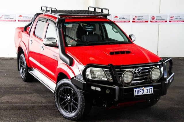 Pre-Owned Toyota Hilux KUN26R MY12 SR5 (4x4) Rockingham, 2013 Toyota Hilux KUN26R MY12 SR5 (4x4) Velocity Red 4 Speed Automatic Dual Cab Pick-up