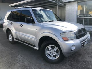 2003 Mitsubishi Pajero NP GLS Silver 5 Speed Sports Automatic Wagon.