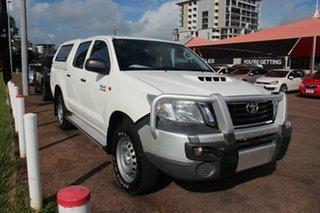 2015 Toyota Hilux KUN26R MY14 SR Double Cab Glacier White 5 Speed Automatic Dual Cab.