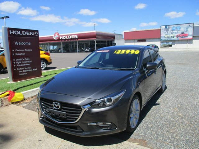 Used Mazda 3 BM5238 SP25 SKYACTIV-Drive North Rockhampton, 2016 Mazda 3 BM5238 SP25 SKYACTIV-Drive Grey 6 Speed Sports Automatic Sedan