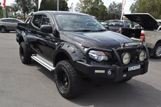 2017 Mitsubishi Triton MQ MY17 GLX Double Cab Black 6 Speed Manual Utility.