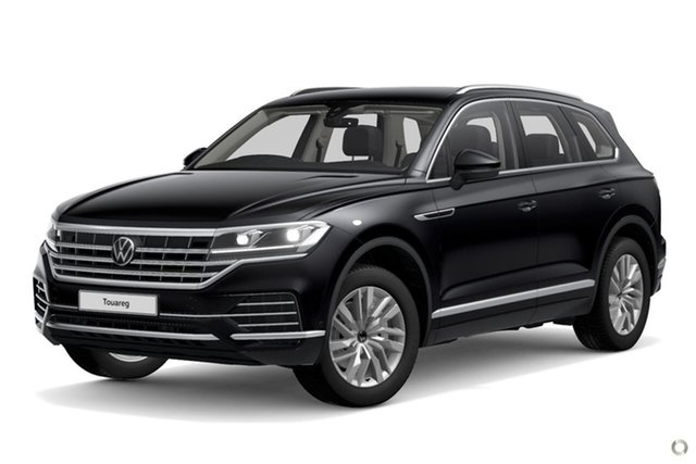 Demo Volkswagen Touareg CR MY21 170TDI Tiptronic 4MOTION Moorabbin, 2020 Volkswagen Touareg CR MY21 170TDI Tiptronic 4MOTION Black 8 Speed Sports Automatic Wagon