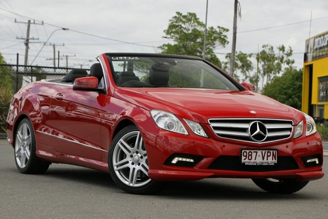 Used Mercedes-Benz E-Class A207 E350 7G-Tronic Avantgarde Rocklea, 2010 Mercedes-Benz E-Class A207 E350 7G-Tronic Avantgarde Fire Opal 7 Speed Sports Automatic