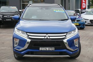 2017 Mitsubishi Eclipse Cross YA MY18 Exceed 2WD Blue 8 Speed Constant Variable Wagon.