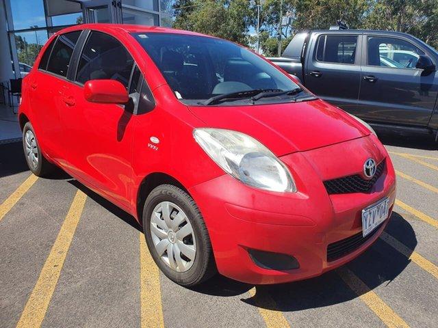 Used Toyota Yaris NCP90R MY11 YR Epsom, 2011 Toyota Yaris NCP90R MY11 YR Red 5 Speed Manual Hatchback