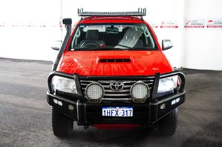 2013 Toyota Hilux KUN26R MY12 SR5 (4x4) Velocity Red 4 Speed Automatic Dual Cab Pick-up.