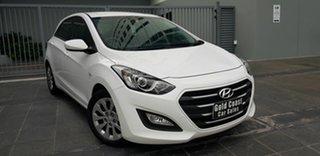 2016 Hyundai i30 GD4 Series 2 Active 1.6 CRDi White 7 Speed Auto Dual Clutch Hatchback.