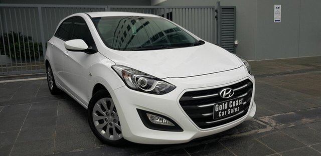 Used Hyundai i30 GD4 Series 2 Active 1.6 CRDi Southport, 2016 Hyundai i30 GD4 Series 2 Active 1.6 CRDi White 7 Speed Auto Dual Clutch Hatchback