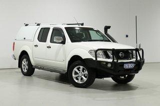 2012 Nissan Navara D40 MY12 ST-X (4x4) White 7 Speed Automatic Dual Cab Pick-up.