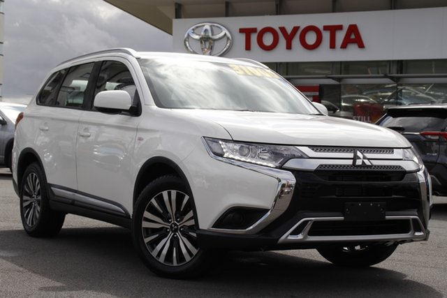 Pre-Owned Mitsubishi Outlander ZL MY19 ES AWD Upper Mount Gravatt, 2019 Mitsubishi Outlander ZL MY19 ES AWD White 6 Speed Constant Variable Wagon