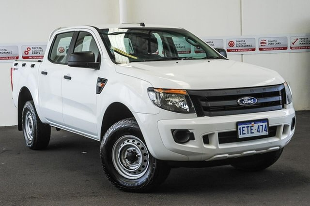 Pre-Owned Ford Ranger PX XL 2.2 Hi-Rider (4x2) Myaree, 2015 Ford Ranger PX XL 2.2 Hi-Rider (4x2) White 6 Speed Automatic Crew Cab Pickup