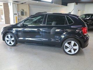 2012 Volkswagen Polo 6R MY13 77TSI DSG Comfortline Black 7 Speed Sports Automatic Dual Clutch