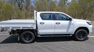 2020 Toyota Hilux GUN126R SR Double Cab Glacier White 6 Speed Manual Cab Chassis.