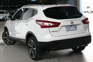 2017 Nissan Qashqai J11 TI White Continuous Variable Wagon.