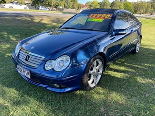 2007 Mercedes-Benz C-Class CL203 MY07 C180 Kompressor Sports Evolution Blue 5 Speed Automatic Coupe.