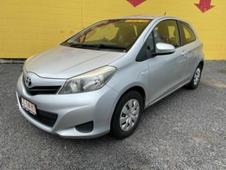 2013 Toyota Yaris NCP130R YR Silver 5 Speed Manual Hatchback