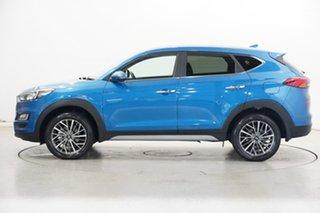 2020 Hyundai Tucson TL3 MY21 Highlander AWD Aqua Blue 8 Speed Sports Automatic Wagon.