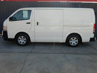 2011 Toyota HiAce KDH201R MY11 LWB White 5 Speed Manual Van.