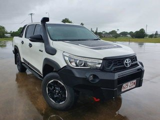 2019 Toyota Hilux GUN126R Rugged X Double Cab Glacier White 6 Speed Sports Automatic Utility.