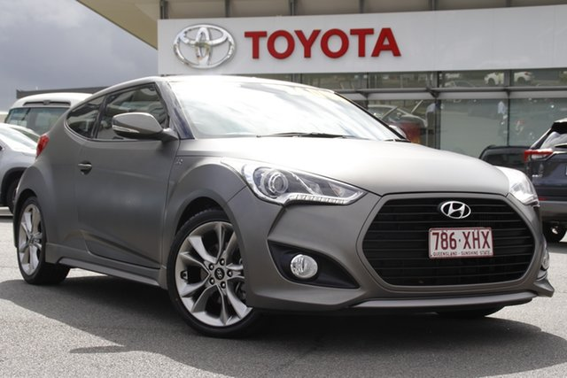 Pre-Owned Hyundai Veloster FS5 Series II SR Coupe Turbo Upper Mount Gravatt, 2016 Hyundai Veloster FS5 Series II SR Coupe Turbo Grey 6 Speed Manual Hatchback