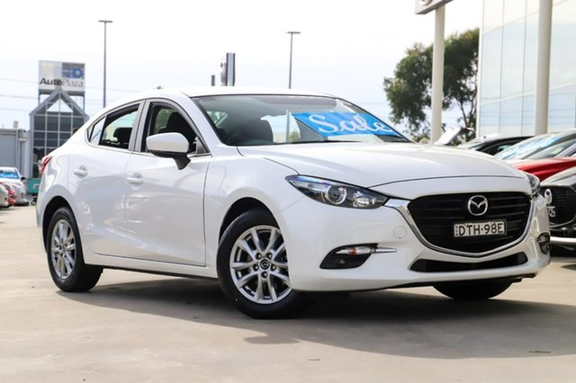 Used Mazda 3 BN5276 Maxx SKYACTIV-MT Kirrawee, 2017 Mazda 3 BN5276 Maxx SKYACTIV-MT White 6 Speed Manual Sedan