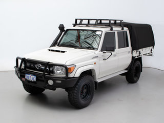 2018 Toyota Landcruiser VDJ79R GXL (4x4) White 5 Speed Manual Double Cab Chassis