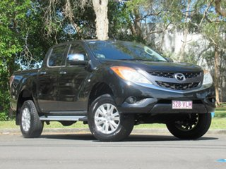 2012 Mazda BT-50 UP0YF1 GT Black 6 Speed Sports Automatic Utility.