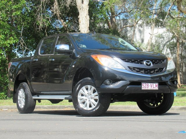 Used Mazda BT-50 UP0YF1 GT, 2012 Mazda BT-50 UP0YF1 GT Black 6 Speed Sports Automatic Utility
