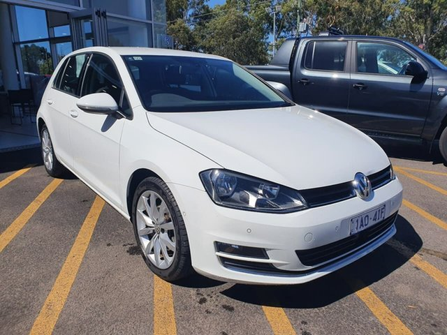 Used Volkswagen Golf VII MY14 103TSI DSG Highline Epsom, 2014 Volkswagen Golf VII MY14 103TSI DSG Highline White 7 Speed Sports Automatic Dual Clutch