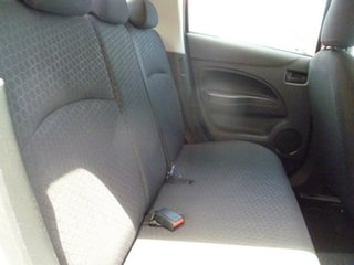 2013 Mitsubishi Mirage LA MY14 ES Silver 5 Speed Manual Hatchback