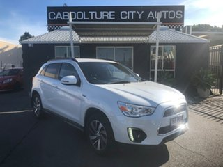 2014 Mitsubishi ASX XB MY14 (4WD) White 6 Speed Automatic Wagon.