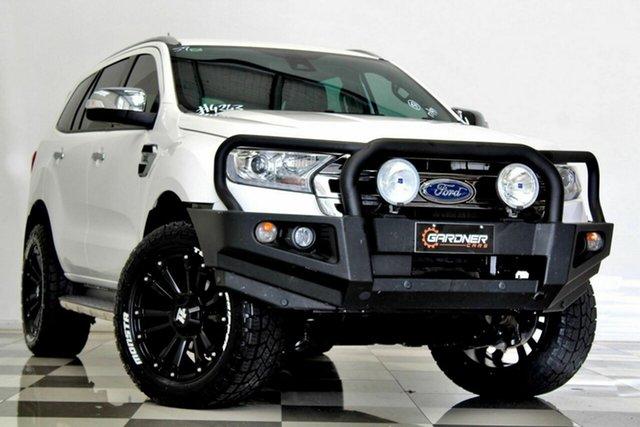 Used Ford Everest UA MY18 Titanium (4WD) Burleigh Heads, 2017 Ford Everest UA MY18 Titanium (4WD) White 6 Speed Automatic SUV