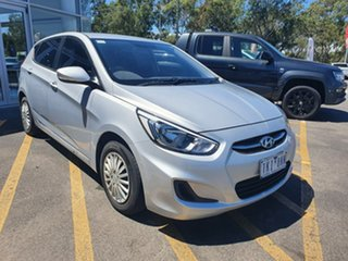 2016 Hyundai Accent RB4 MY17 Active Silver 6 Speed Constant Variable Hatchback.