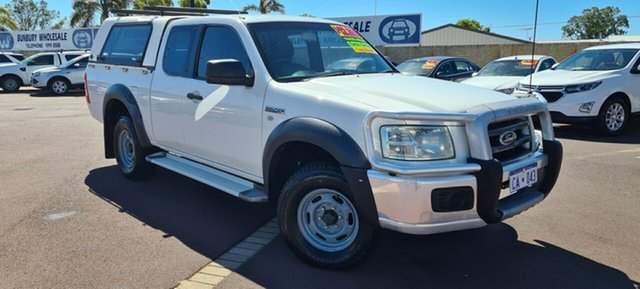 Used Ford Ranger PJ XL Hi-Rider East Bunbury, 2007 Ford Ranger PJ XL Hi-Rider White 5 Speed Manual Cab Chassis