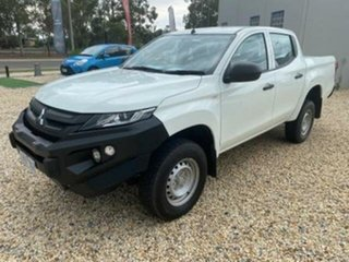 2019 Mitsubishi Triton MR MY19 GLX (4x4) White 6 Speed Manual Double Cab Pick Up.