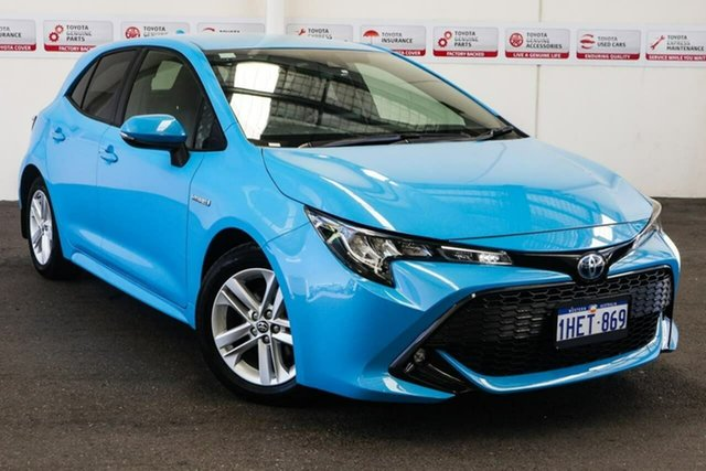 Pre-Owned Toyota Corolla ZWE211R SX E-CVT Hybrid Myaree, 2019 Toyota Corolla ZWE211R SX E-CVT Hybrid Eclectic Blue 10 Speed Constant Variable Hatchback