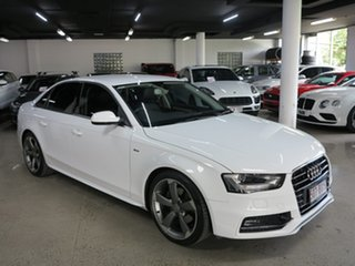 2015 Audi A4 B8 8K MY15 S Line Multitronic White 8 Speed Constant Variable Sedan.