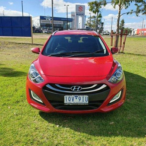 Used Hyundai i30 GD Active Tourer Melton, 2013 Hyundai i30 GD Active Tourer Red 6 Speed Sports Automatic Wagon