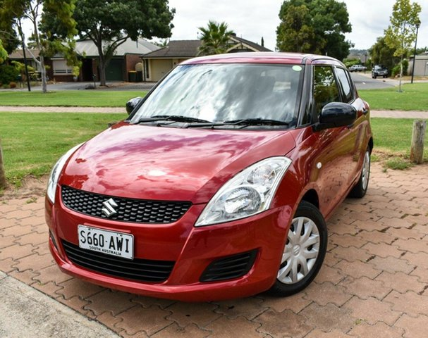 Used Suzuki Swift FZ GA Ingle Farm, 2012 Suzuki Swift FZ GA Red 4 Speed Automatic Hatchback