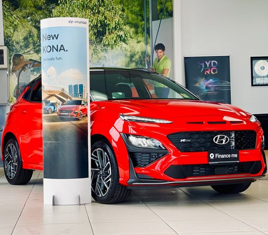 New Hyundai Kona Os.v4 MY21 N-Line D-CT AWD Premium Totness, 2020 Hyundai Kona Os.v4 MY21 N-Line D-CT AWD Premium IGNITE FLAME + BLACK 7 Speed