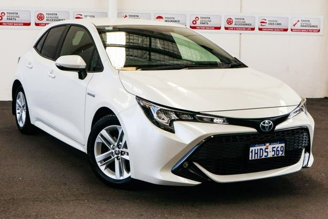 Pre-Owned Toyota Corolla ZWE211R SX E-CVT Hybrid Myaree, 2019 Toyota Corolla ZWE211R SX E-CVT Hybrid Crystal Pearl 10 Speed Constant Variable Hatchback